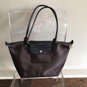 Longchamp Medium le Pliage Brown Tote